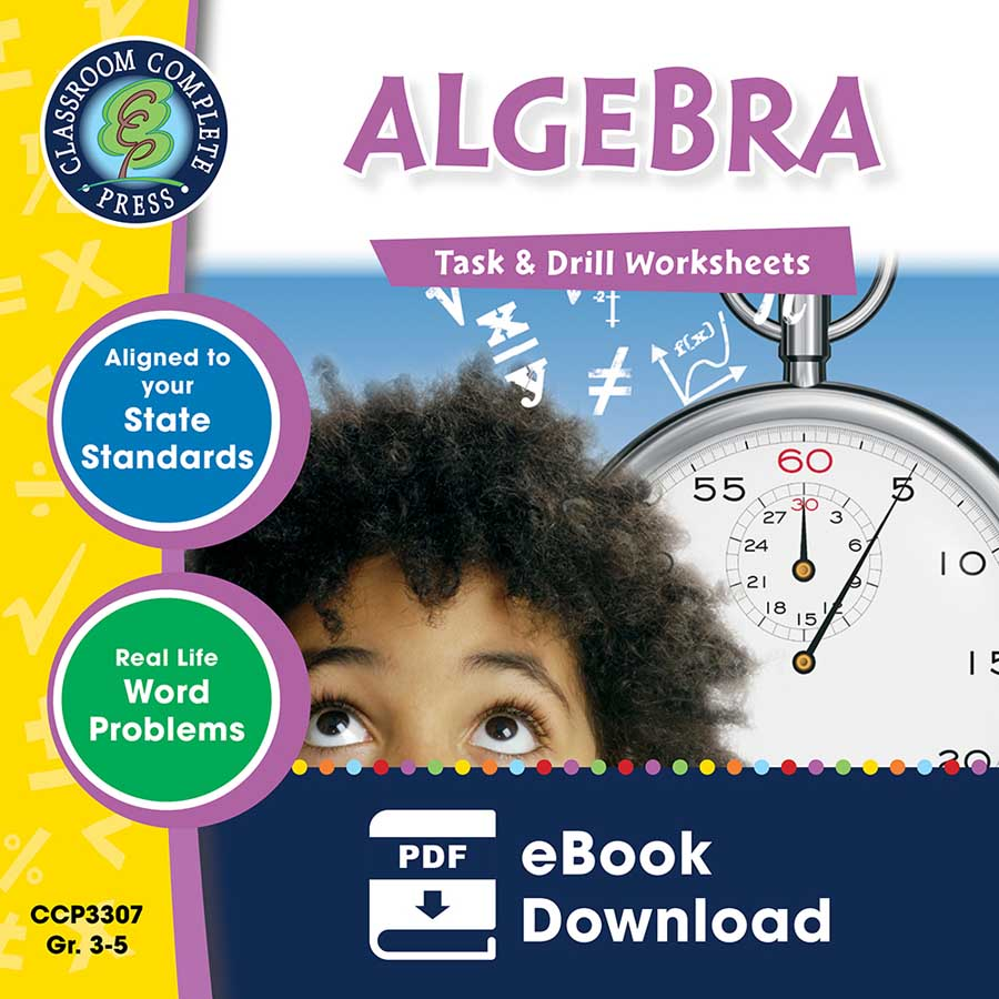 Algebra - Task & Drill Sheets Gr. 3-5 - eBook