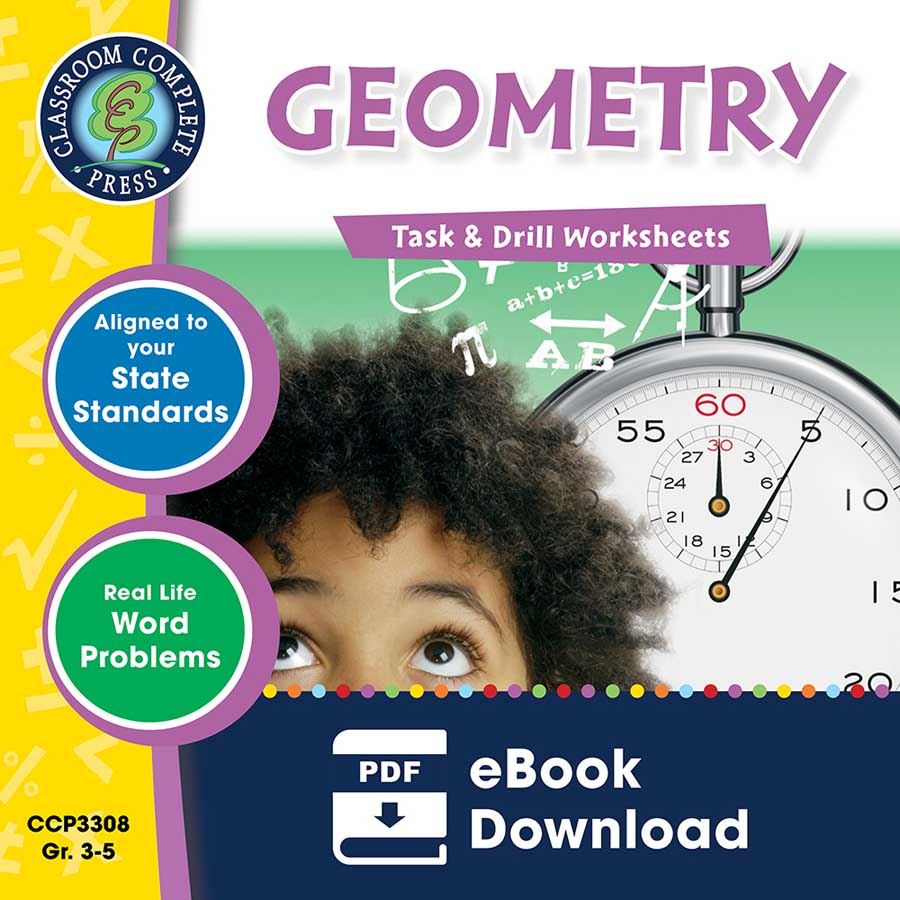 Geometry - Task & Drill Sheets Gr. 3-5 - eBook