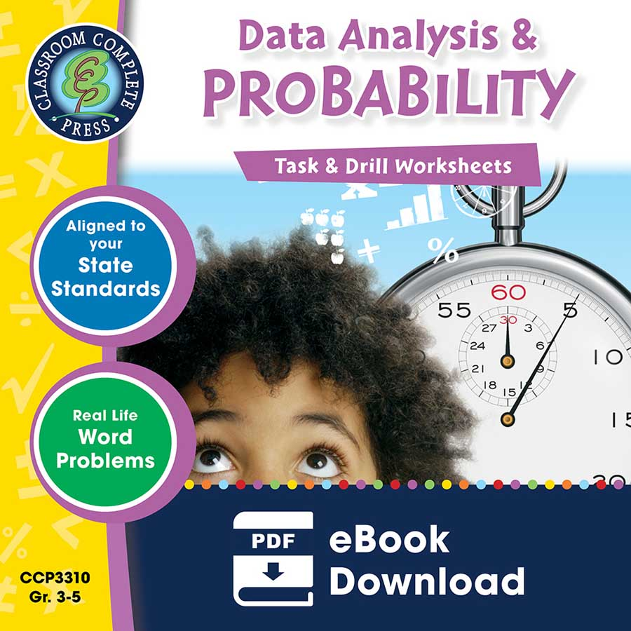 Data Analysis & Probability - Task & Drill Sheets Gr. 3-5 - eBook