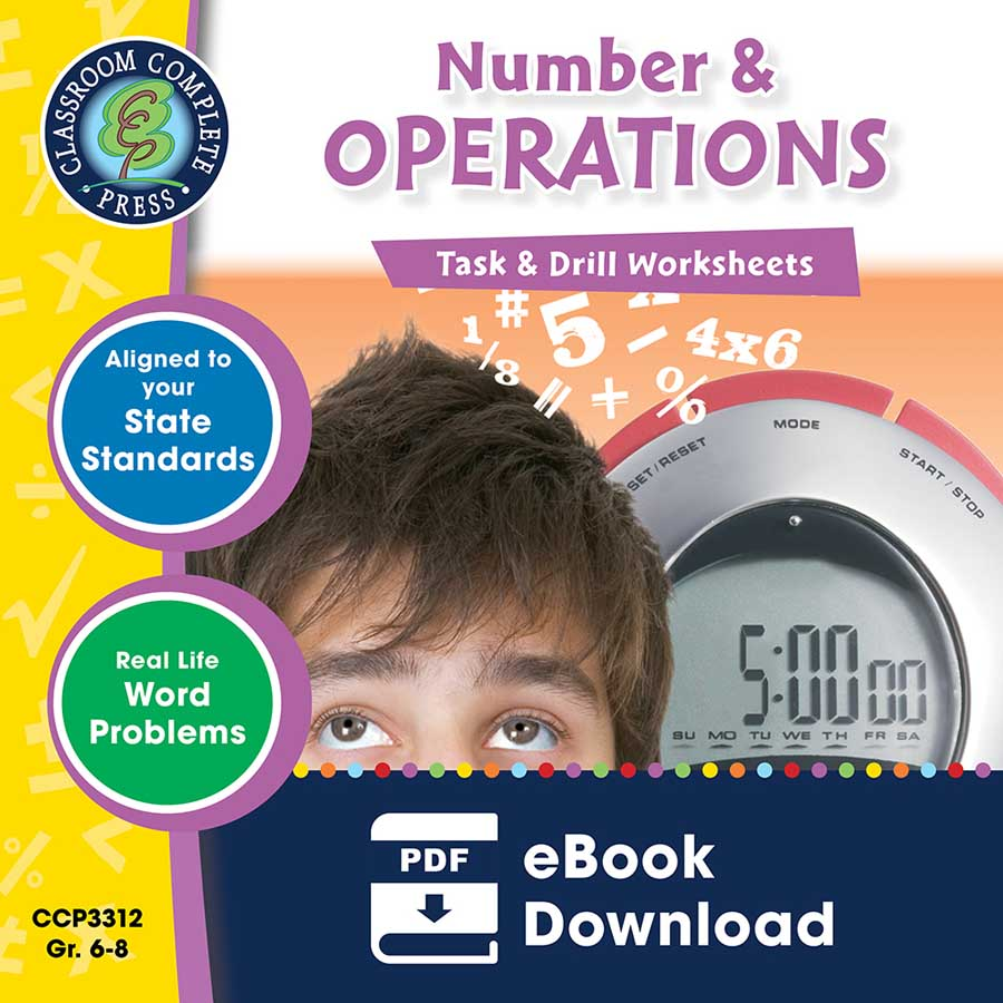 Number & Operations - Task & Drill Sheets Gr. 6-8 - eBook