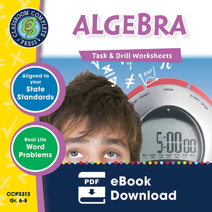 Algebra - Task & Drill Sheets Gr. 6-8 - eBook