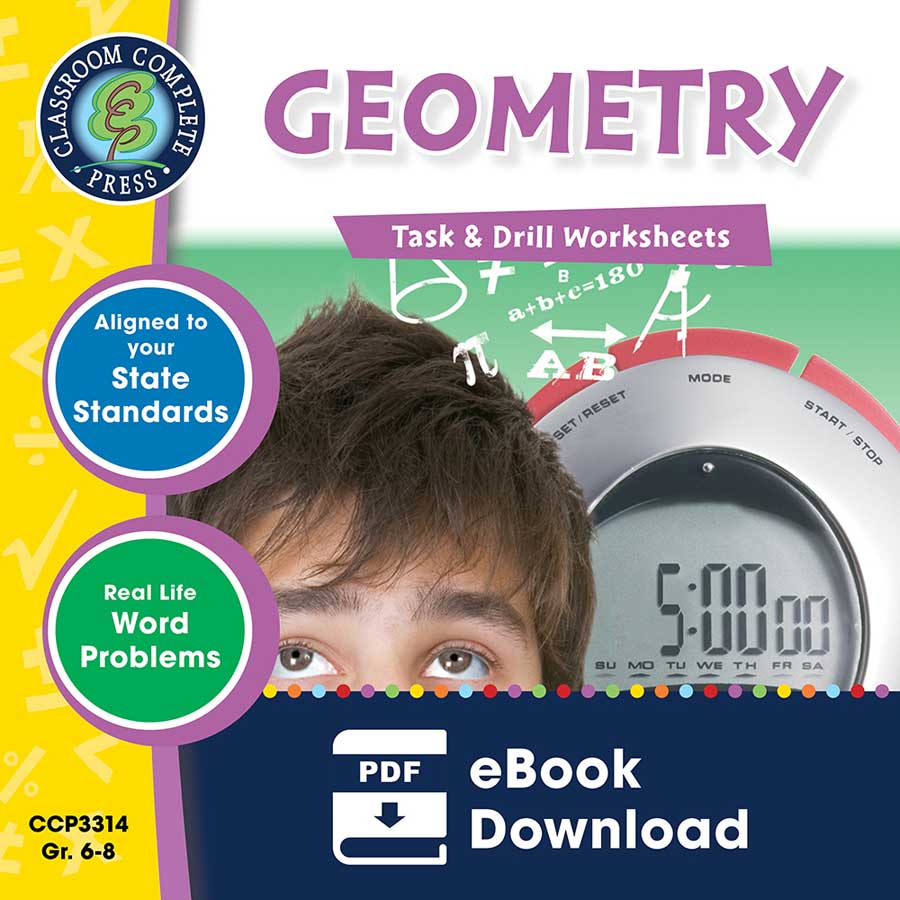 Geometry - Task & Drill Sheets Gr. 6-8 - eBook