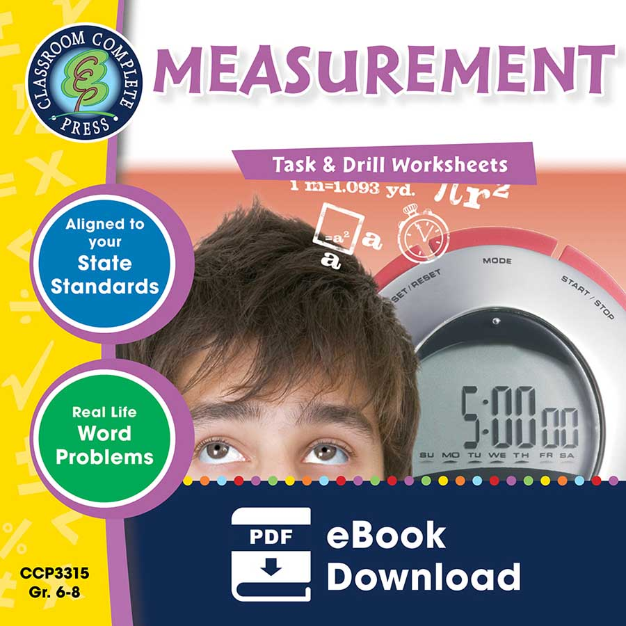 Measurement - Task & Drill Sheets Gr. 6-8 - eBook