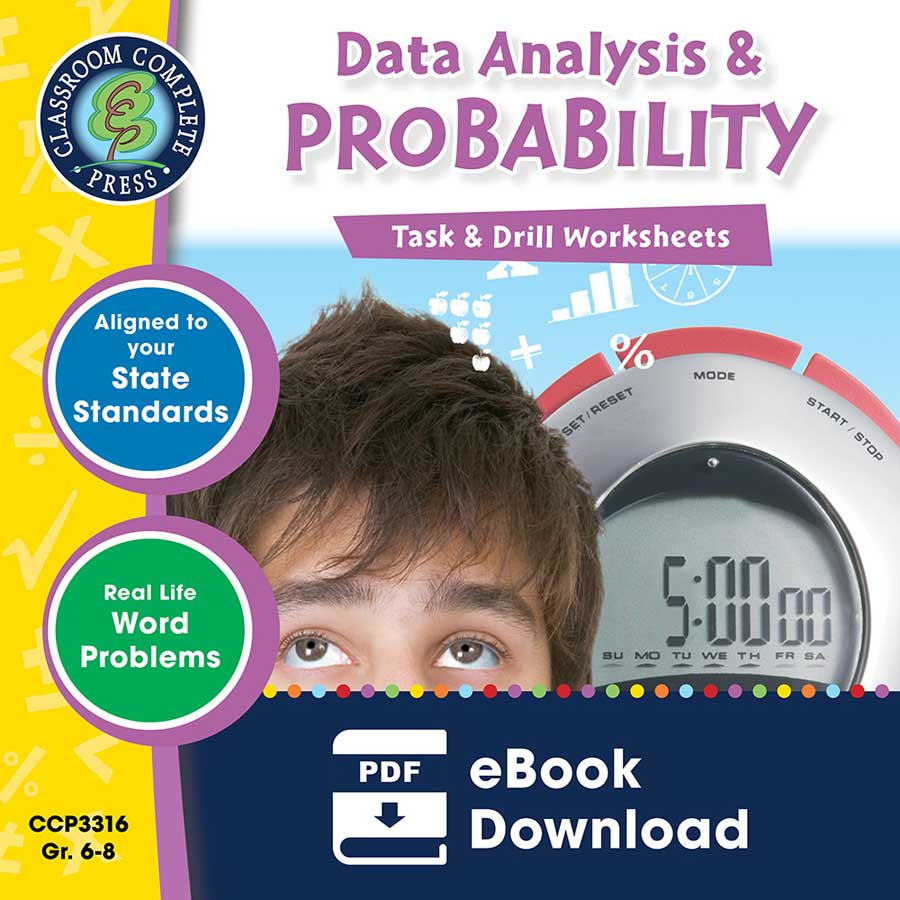 Data Analysis & Probability - Task & Drill Sheets Gr. 6-8 - eBook