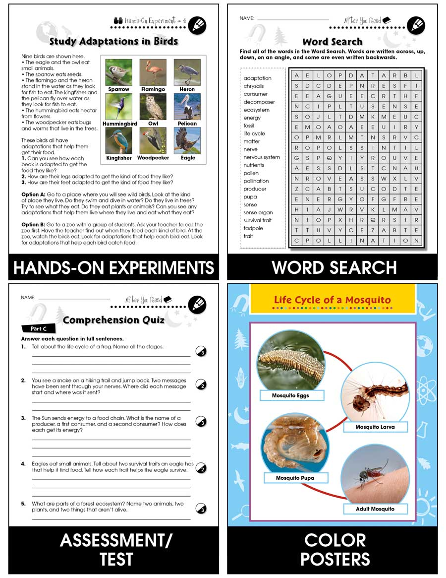 Hands-On - Life Science: Adaptations Gr. 1-5 - Chapter Slice eBook
