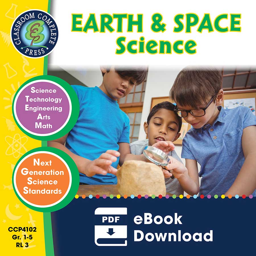 Hands-On STEAM - Earth & Space Science Gr. 1-5 - eBook