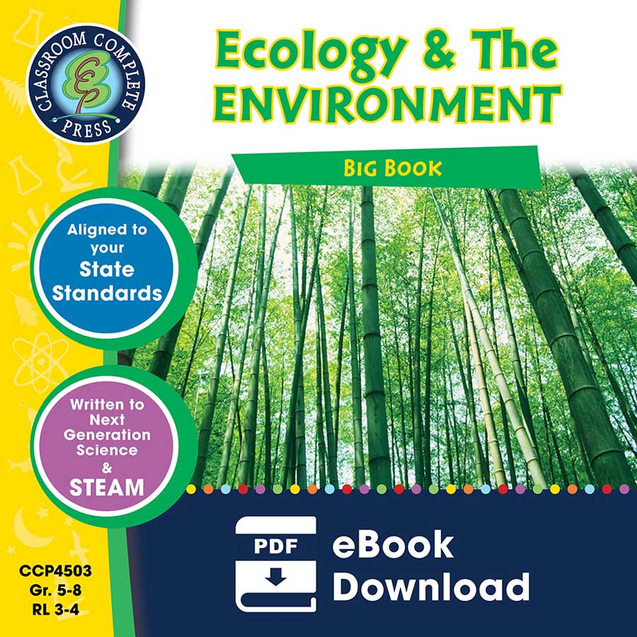 Ecology & The Environment Big Book Gr. 5-8 - eBook