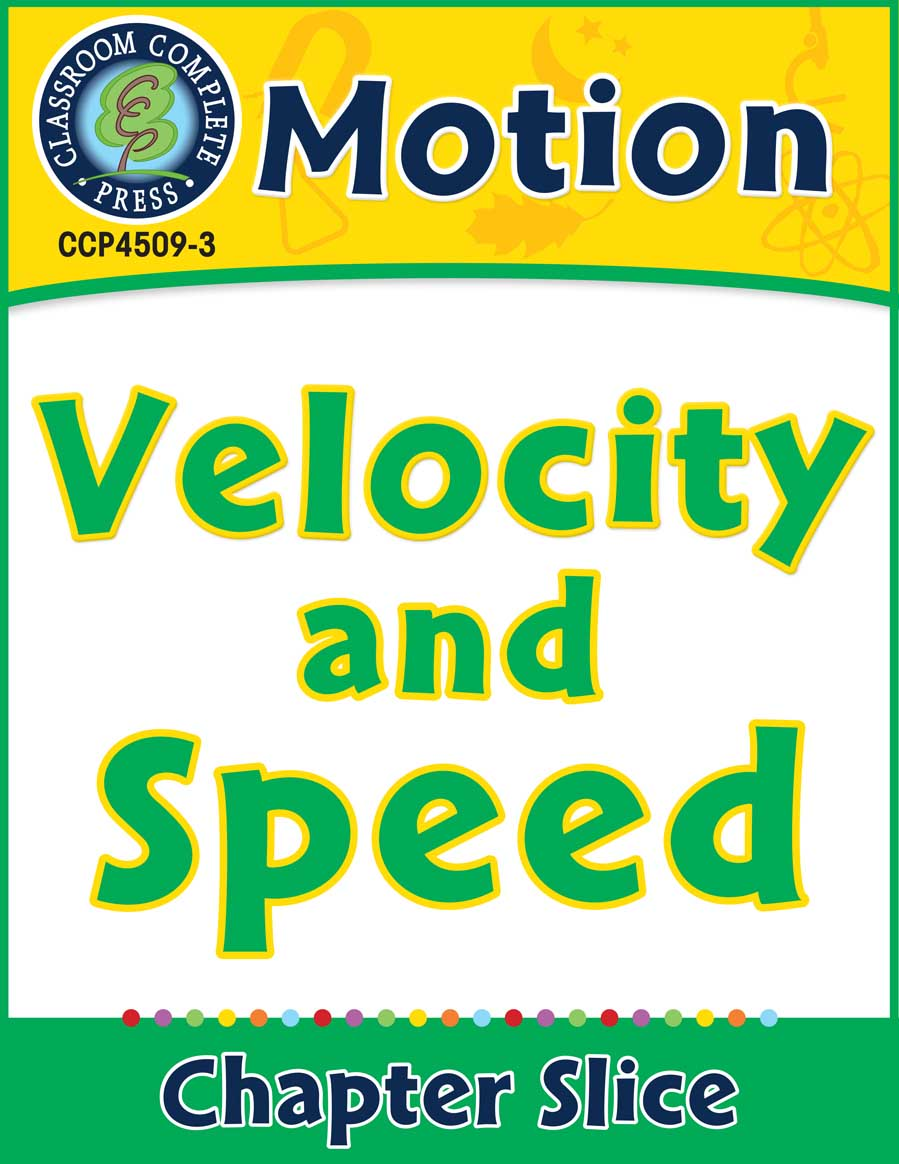 Motion: Velocity and Speed Gr. 5-8 - Chapter Slice eBook