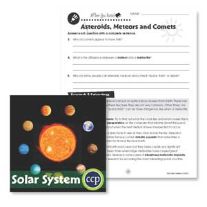 Solar System: Comets & Meteors Research Gr. 5-8 - WORKSHEETS - eBook