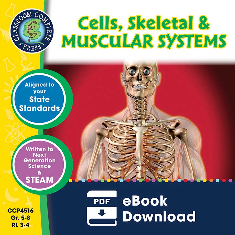 Cells, Skeletal & Muscular Systems Gr. 5-8 - eBook
