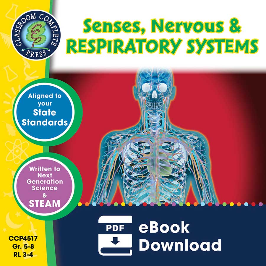 Senses, Nervous & Respiratory Systems Gr. 5-8 - eBook