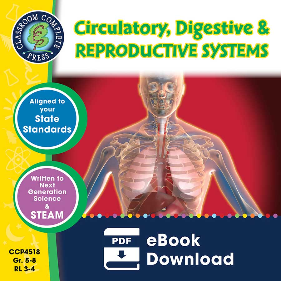 Circulatory, Digestive & Reproductive Systems Gr. 5-8 - eBook