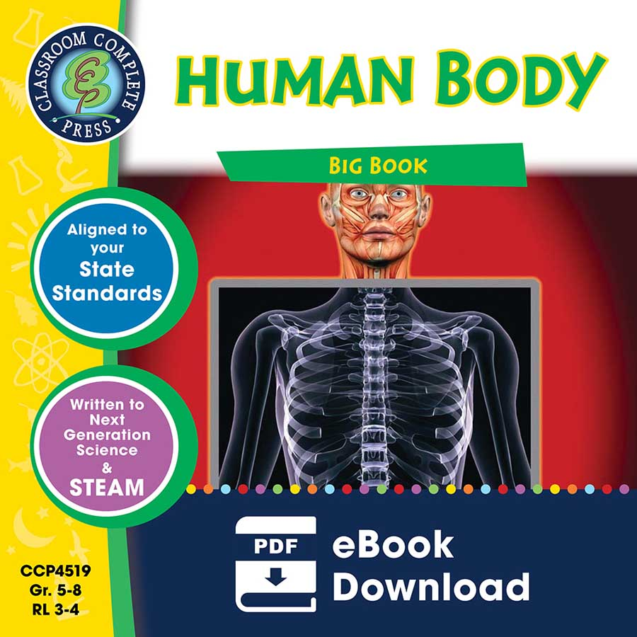 Human Body Big Book Gr. 5-8 - eBook
