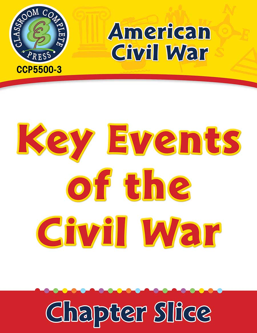 American Civil War: Key Events of the Civil War Gr. 5-8 - Chapter Slice eBook