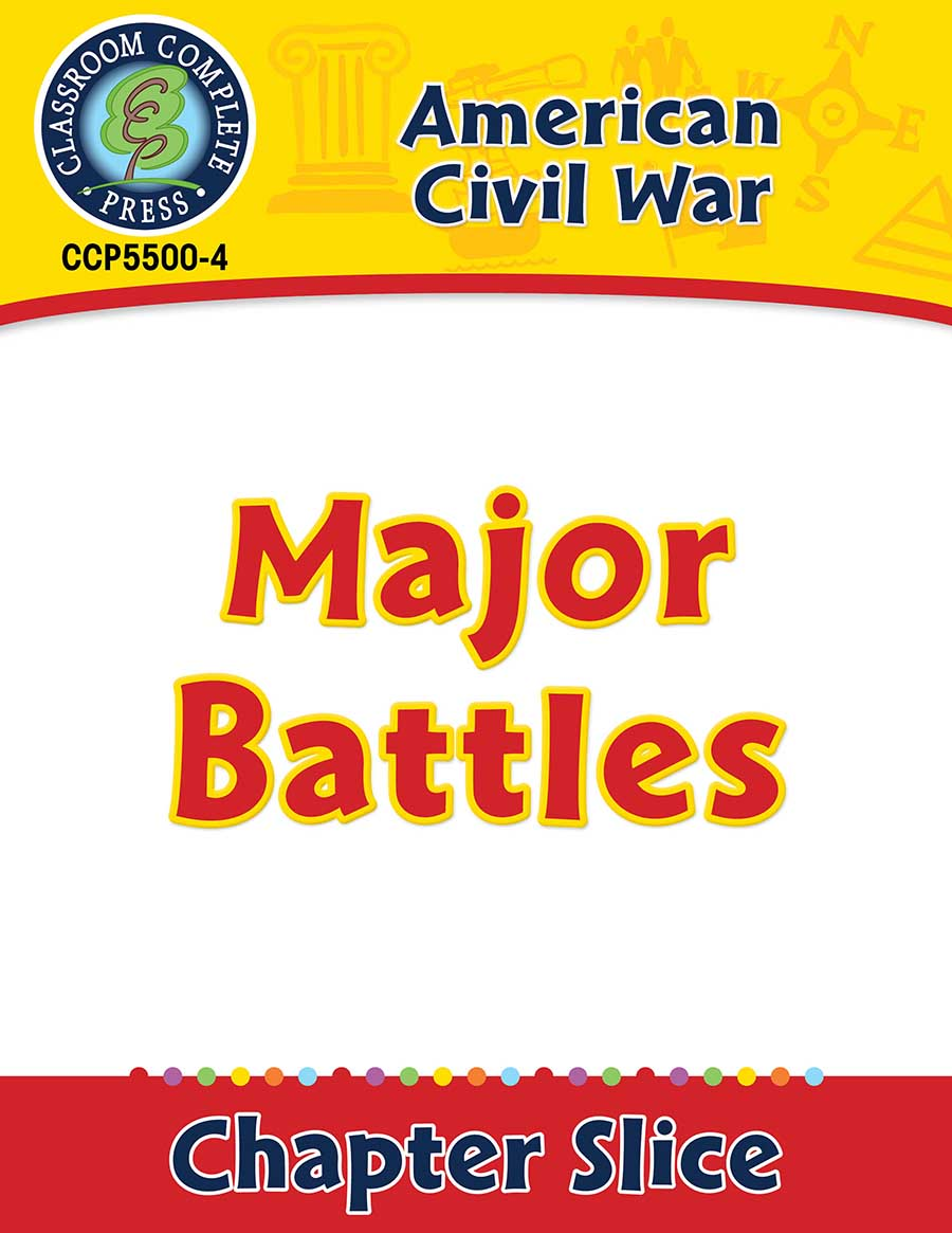 American Civil War: Major Battles Gr. 5-8 - Chapter Slice eBook