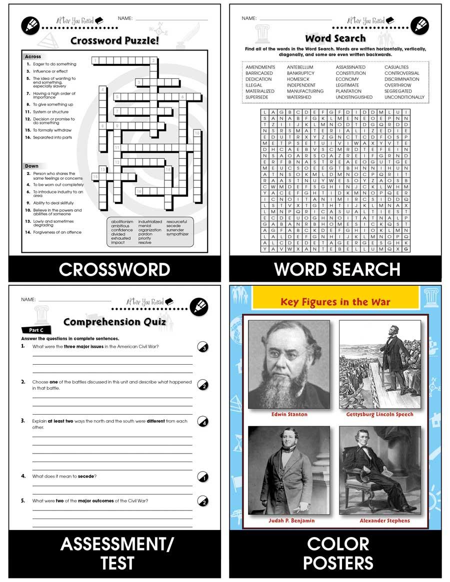 American Civil War Major Battles Gr 5 8 Grades 5 To 8