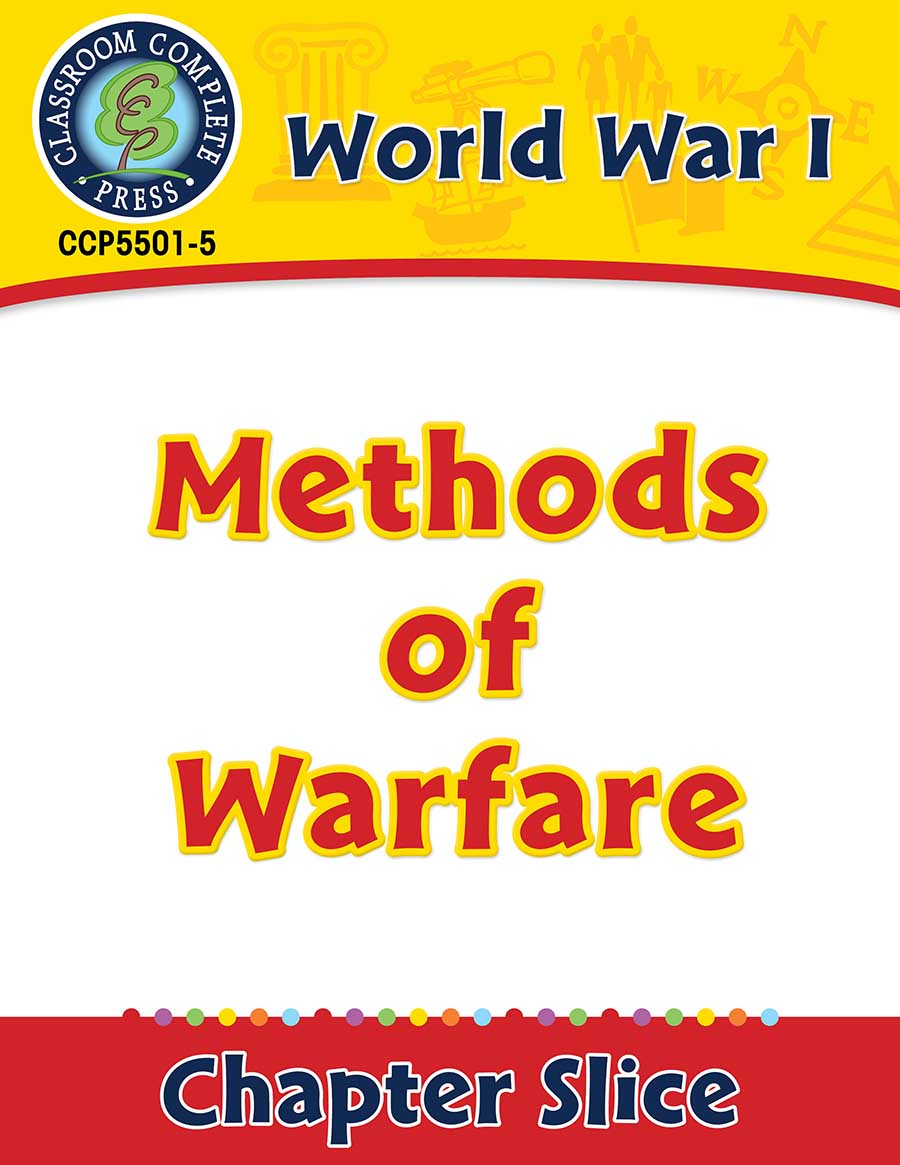 World War I: Methods of Warfare Gr. 5-8 - Chapter Slice eBook