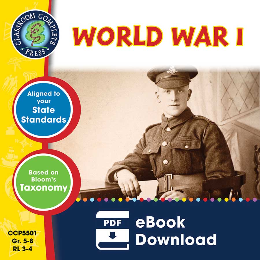 World War 1 Gr. 5-8 - eBook