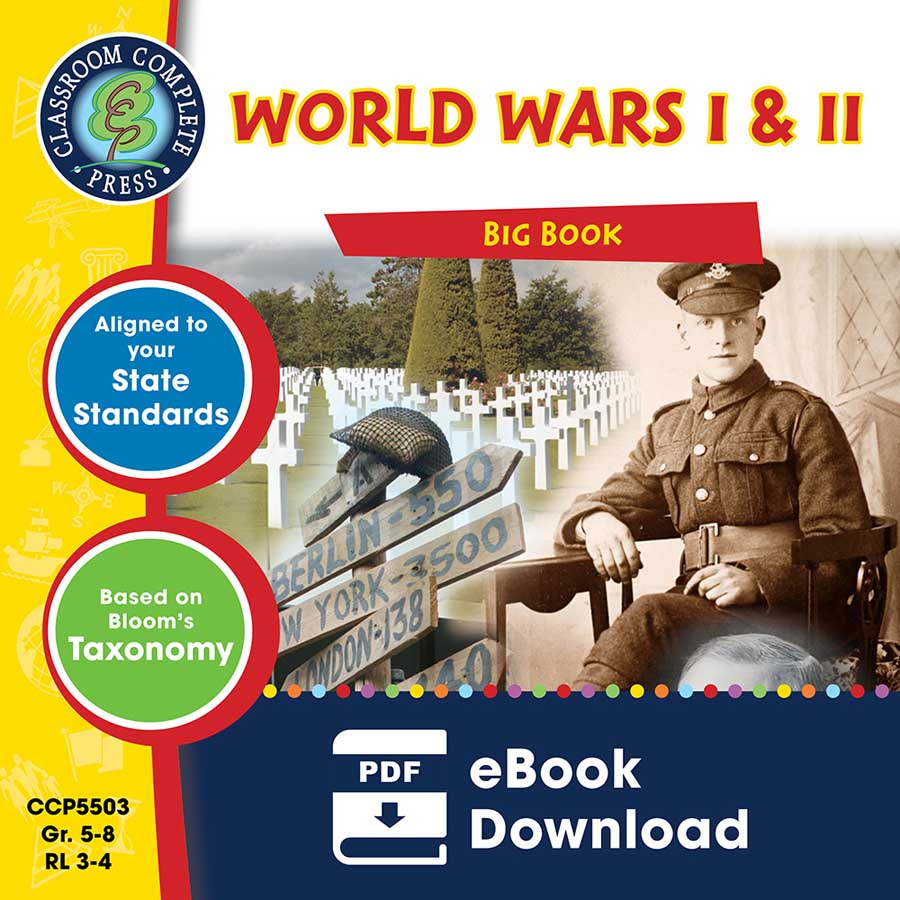 World Wars 1 & 2 Big Book Gr. 5-8 - eBook