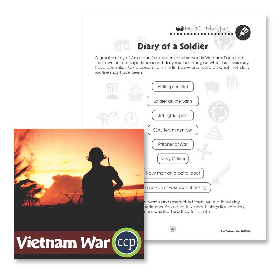Vietnam War: Diary of a Soldier Gr. 5-8 - WORKSHEETS - eBook