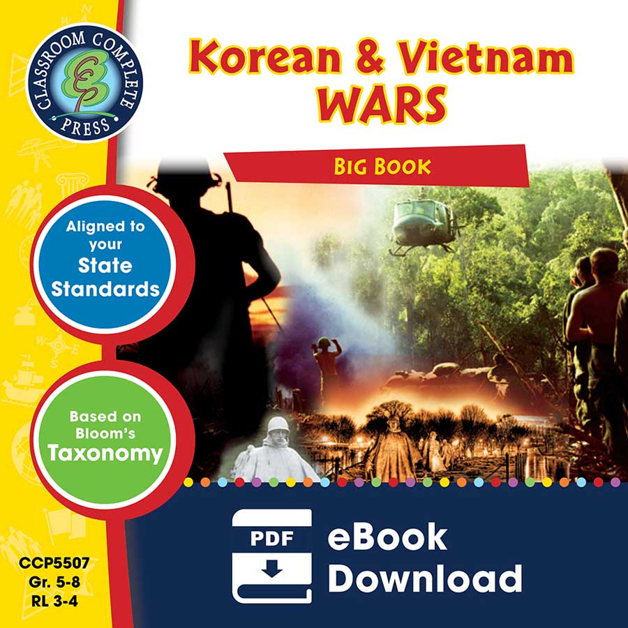 Korean & Vietnam Wars Big Book Gr. 5-8 - eBook