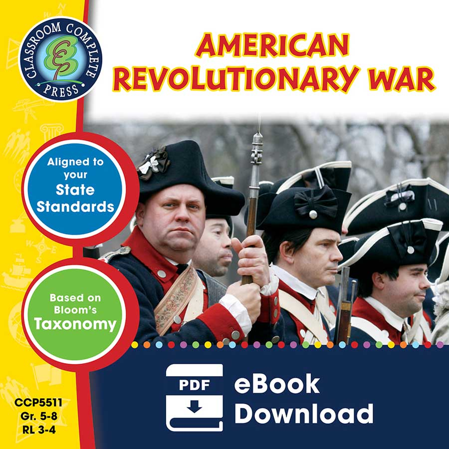 American Revolutionary War Gr. 5-8 - eBook