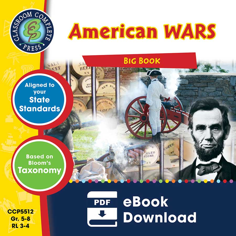 American Wars Big Book Gr. 5-8 - eBook