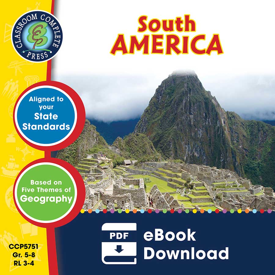South America Gr. 5-8 - eBook