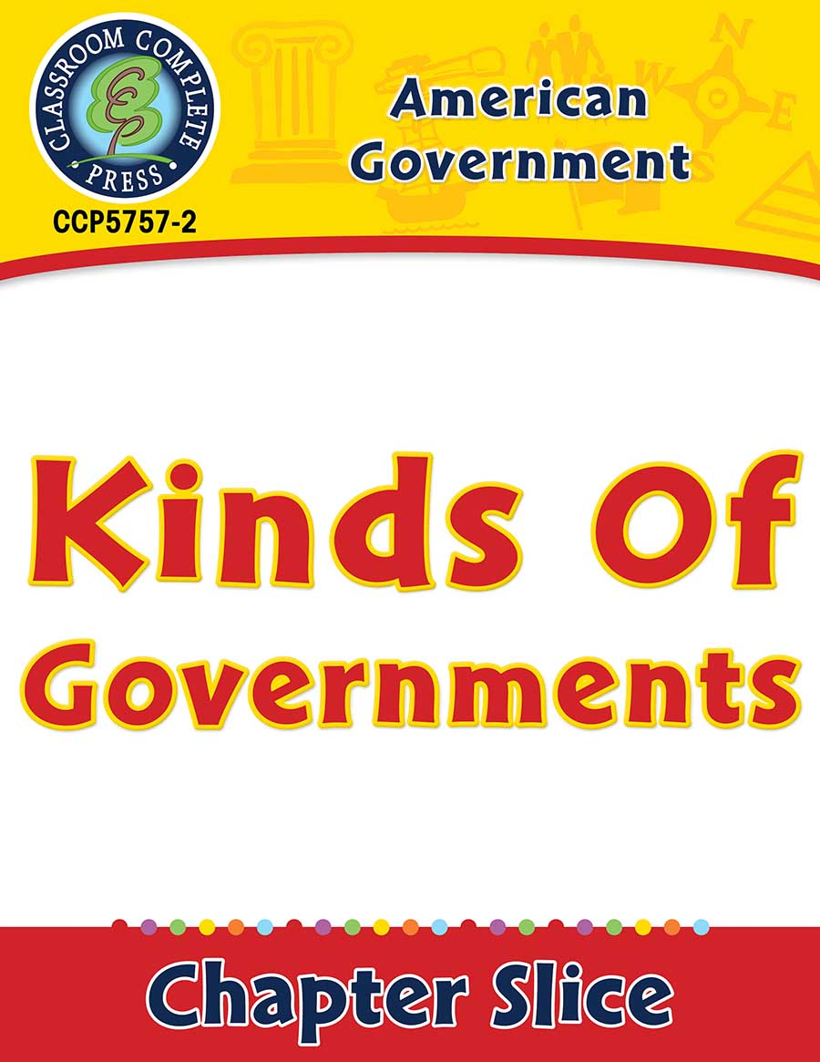 American Government: Kinds of Governments Gr. 5-8 - Chapter Slice eBook