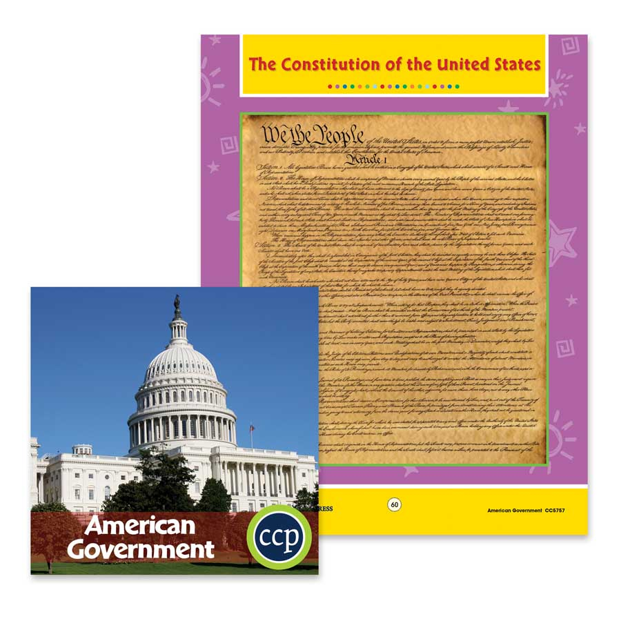 American Government: The Constitution of the United States Gr. 5-8 - WORKSHEETS - eBook