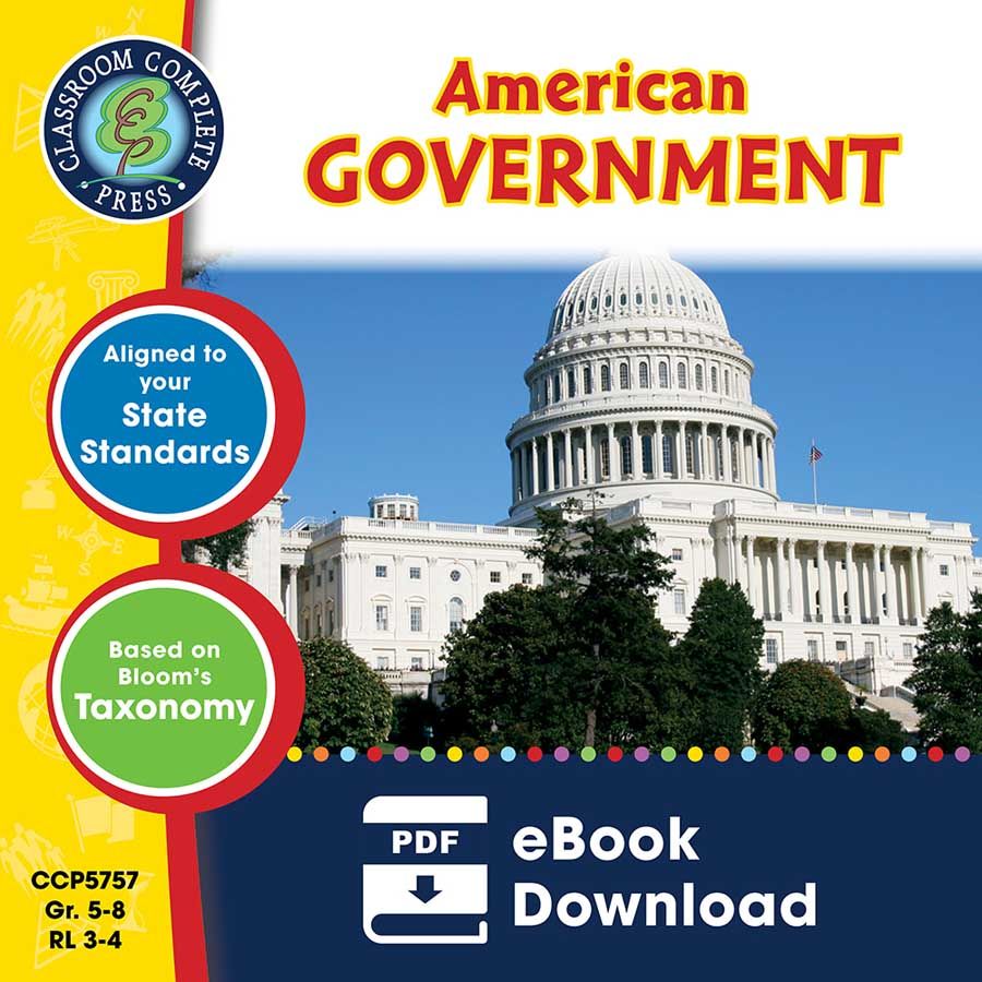American Government - Grades 5 to 8 - eBook - Lesson Plan ...