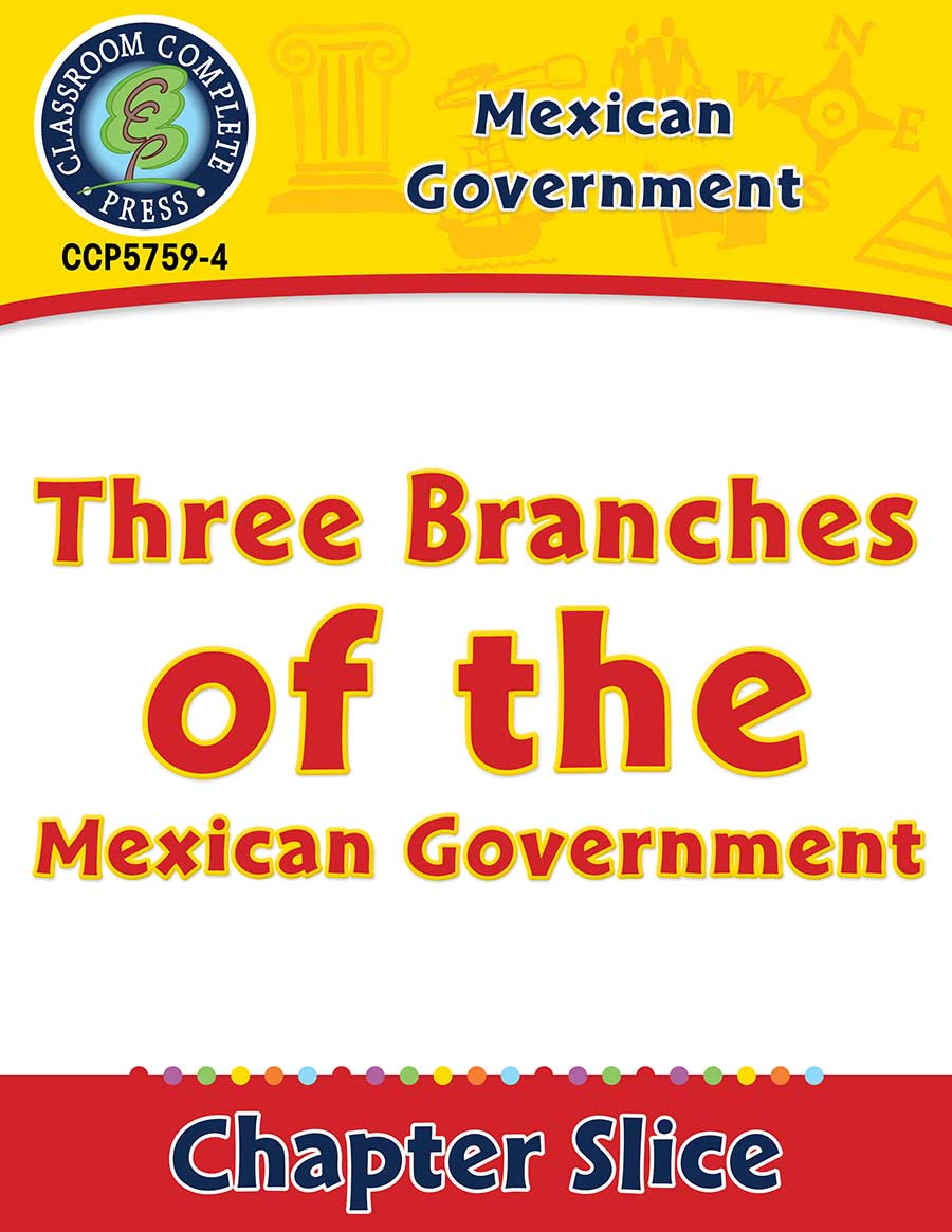 Mexican Government: Three Branches of the Mexican Government Gr. 5-8 - Chapter Slice eBook