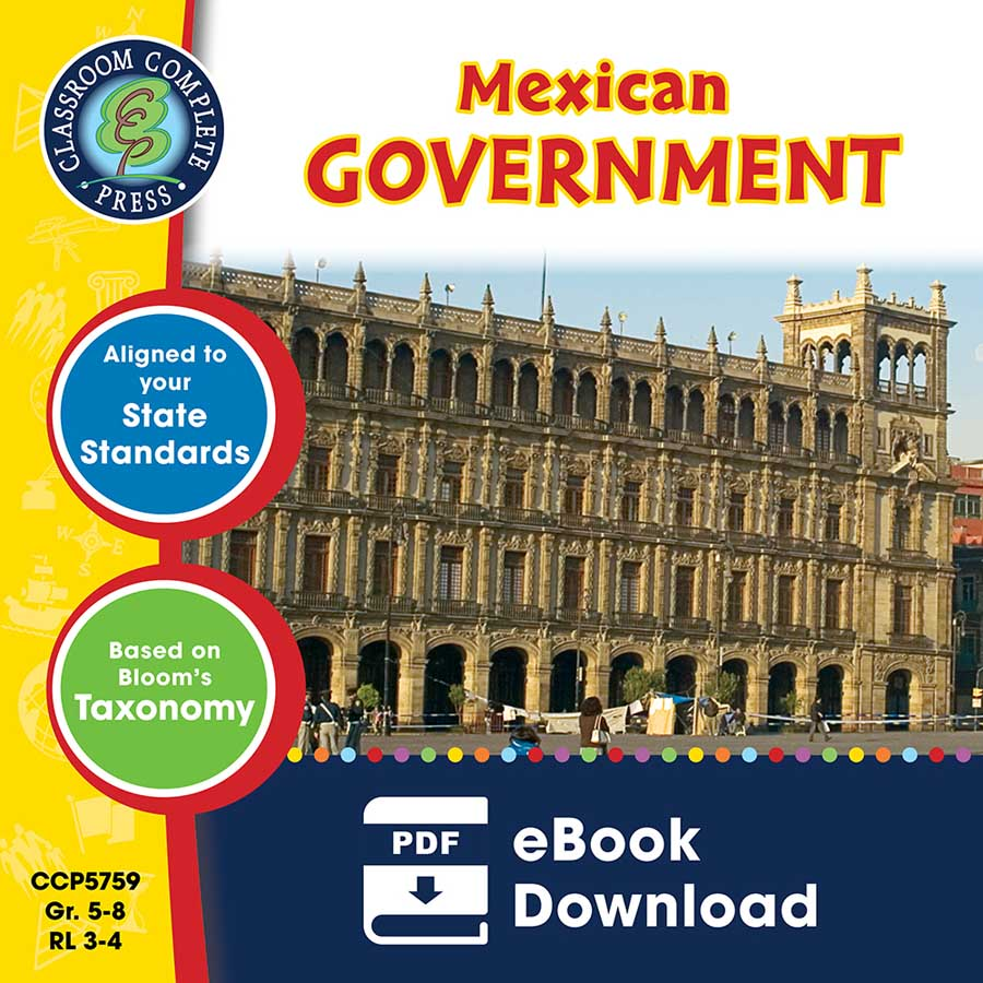 Mexican Government Gr. 5-8 - eBook