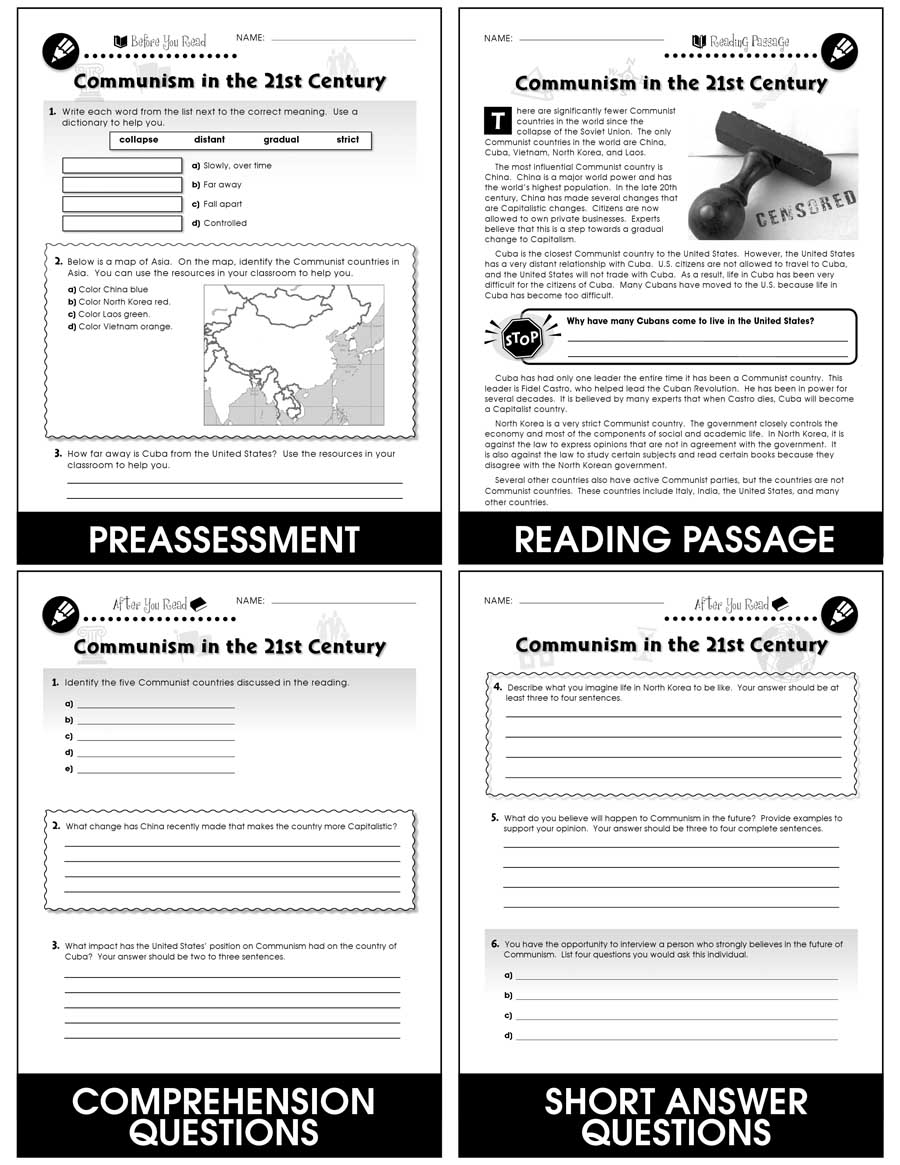 Capitalism Vs Communism Grades 5 To 8 Ebook Lesson Plan Ccp