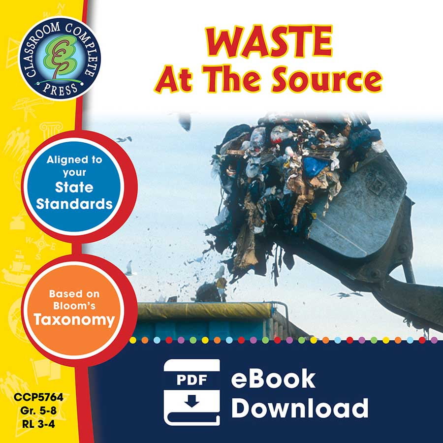 Waste: At the Source Gr. 5-8 - eBook