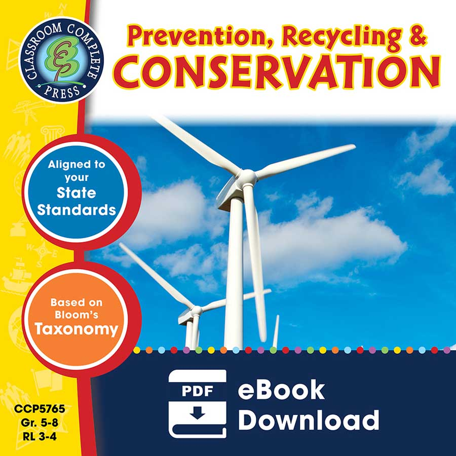 Prevention, Recycling & Conservation Gr. 5-8 - eBook
