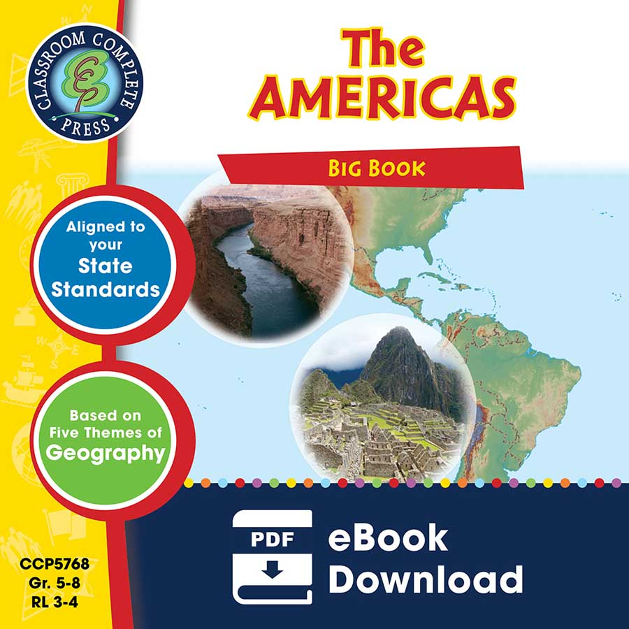 The Americas Big Book Gr. 5-8 - eBook