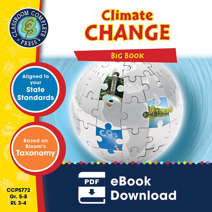 Climate Change Big Book Gr. 5-8 - eBook