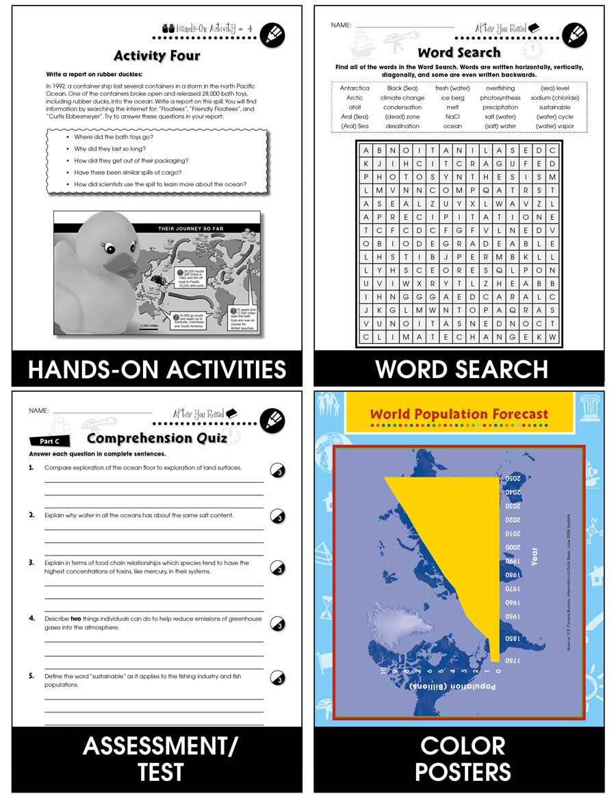 Conservation: Ocean Water Resources: How the Amount of Salt Water Could Change Gr. 5-8 - Chapter Slice eBook