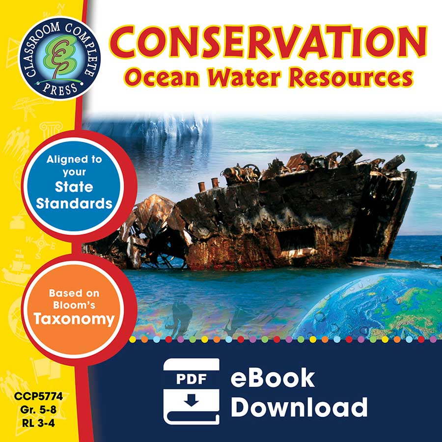 Conservation: Ocean Water Resources Gr. 5-8 - eBook