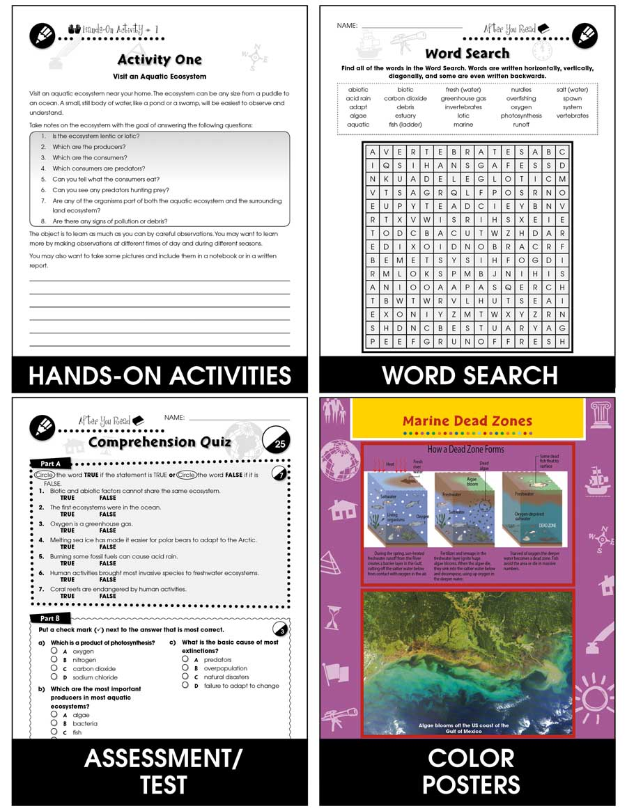 Conservation: Waterway Habitat Resources Gr. 5-8 - eBook