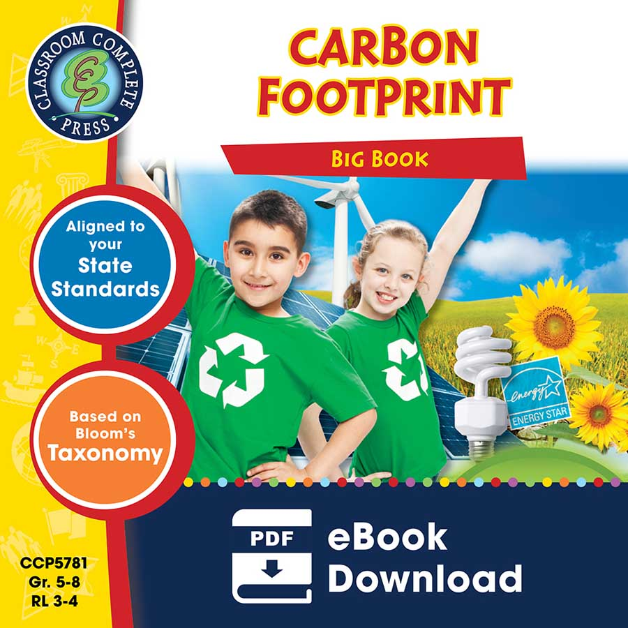 Carbon Footprint Big Book Gr. 5-8 - eBook