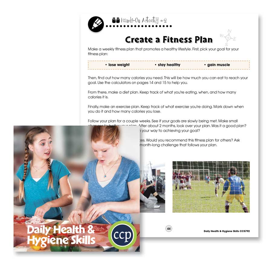Daily Health & Hygiene Skills: Create a Fitness Plan Gr. 6-12 - WORKSHEETS - eBook