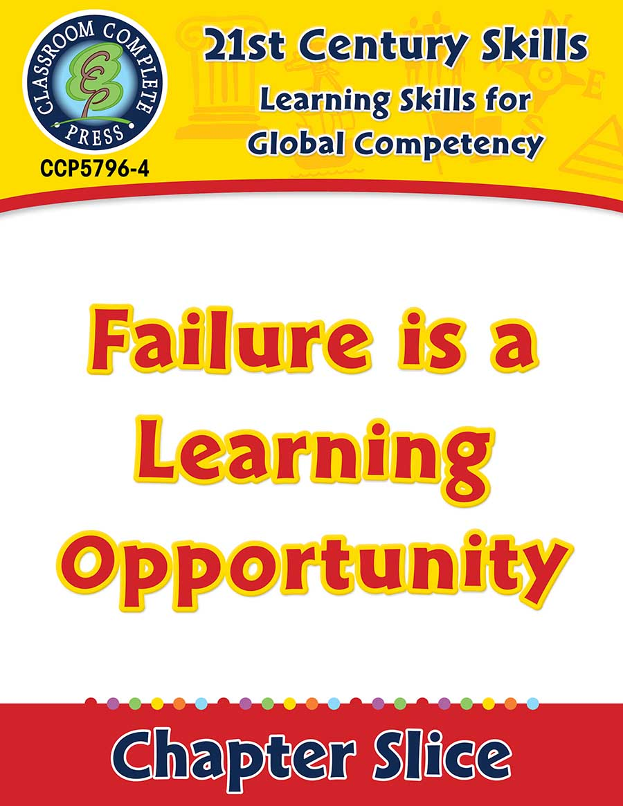 Learning Skills for Global Competency: Failure is a Learning Opportunity Gr. 3-8+ - Chapter Slice eBook