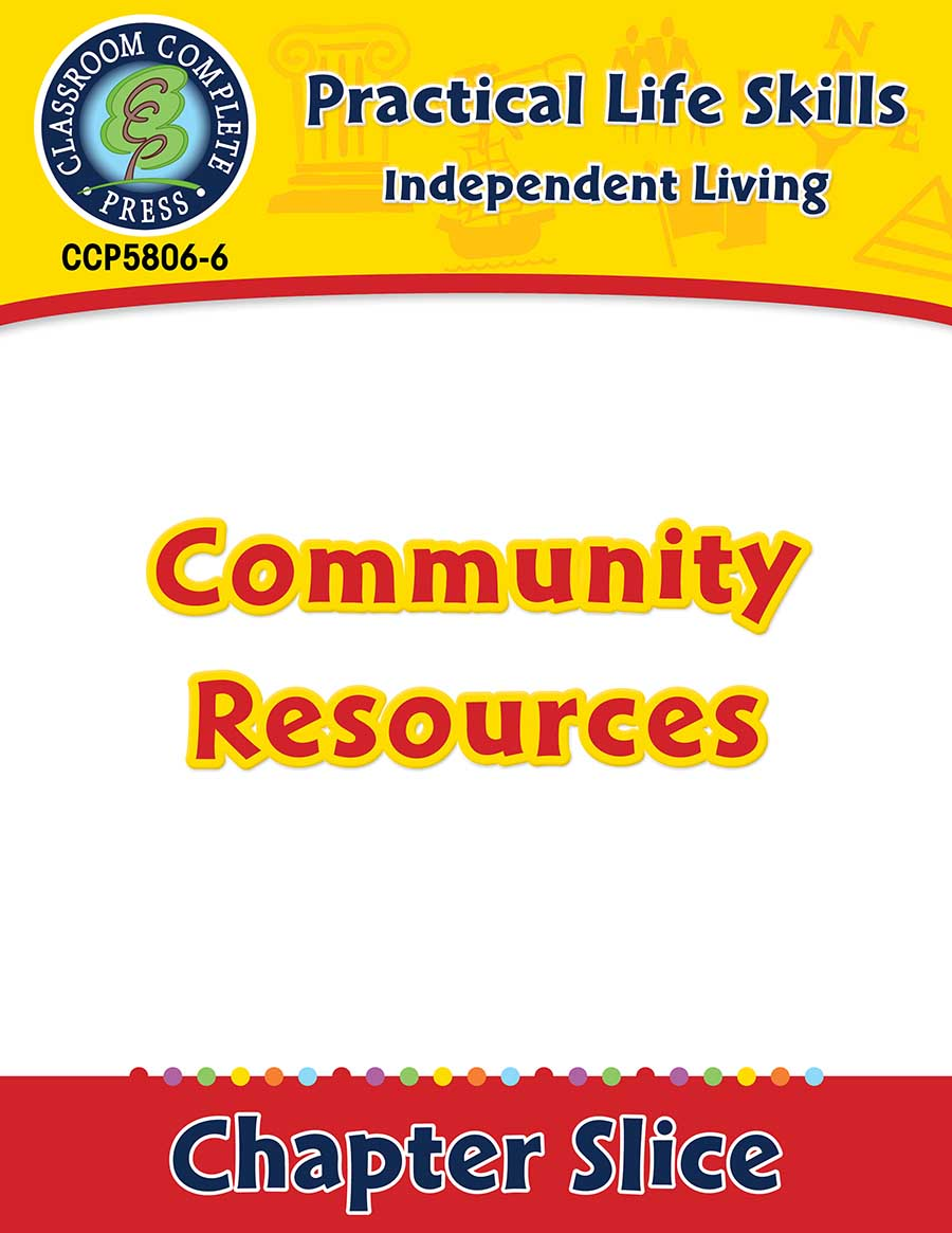 Independent Living: Community Resources Gr. 9-12+ - Chapter Slice eBook