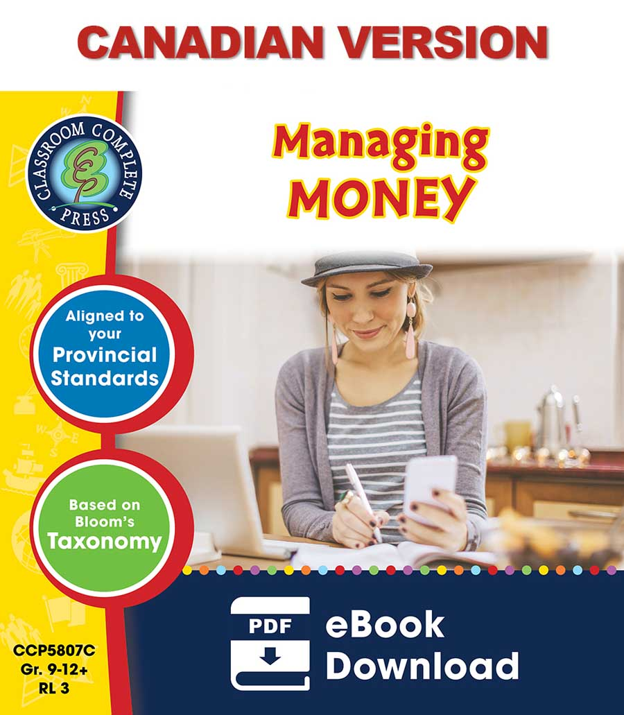 Practical Life Skills - Managing Money - Canadian Content Gr. 9-12+ - eBook