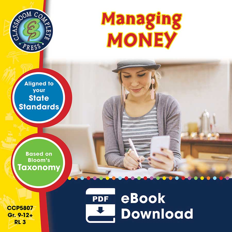 Practical Life Skills - Managing Money Gr. 9-12+ - eBook
