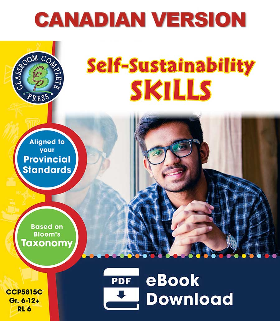 Real World Life Skills - Self-Sustainability Skills - Canadian Content Gr. 6-12+ - eBook