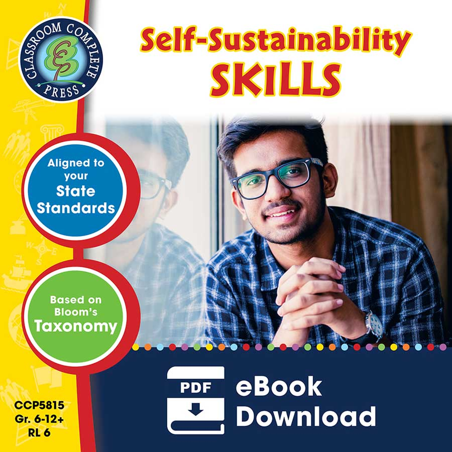 Real World Life Skills - Self-Sustainability Skills Gr. 6-12+ - eBook