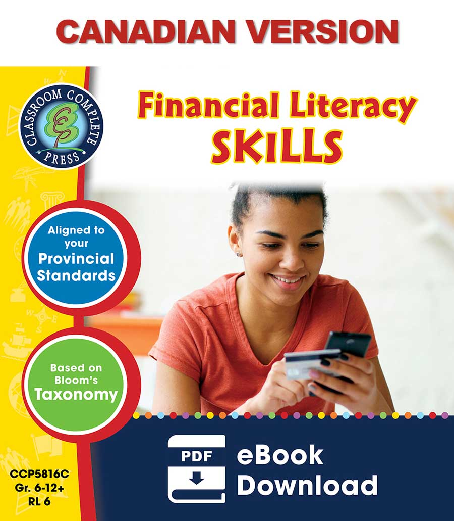 Real World Life Skills - Financial Literacy Skills - Canadian Content Gr. 6-12+ - eBook